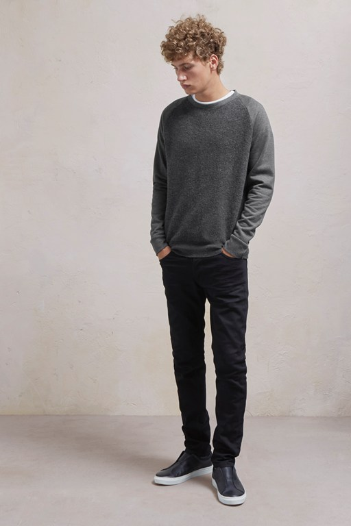 Complete the Look Boiled Sweat Knit Hybrid Crew Neck Jumper