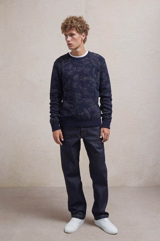 Complete the Look Fumio Jacquard Lambswool Sweatshirt