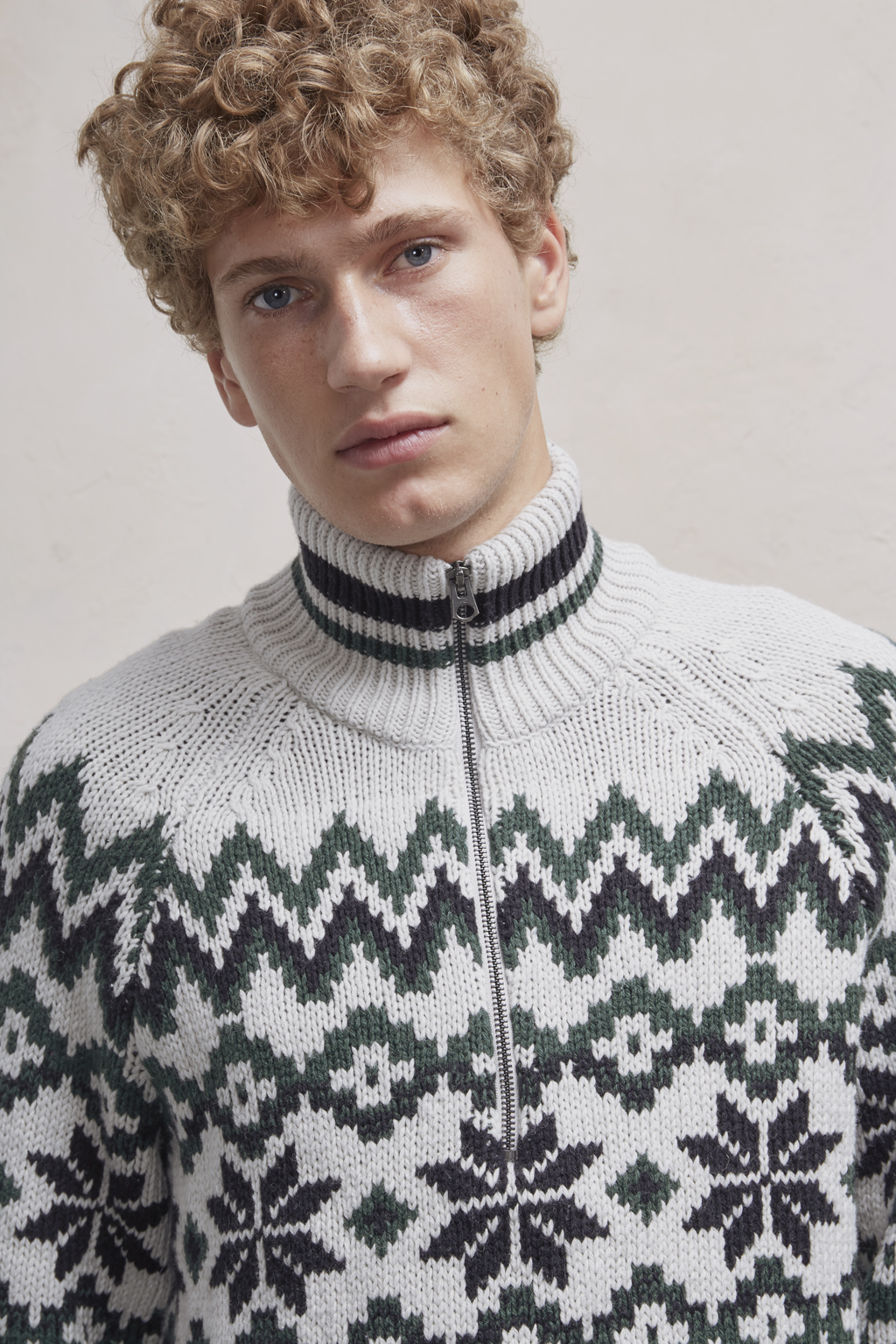 Ski Fair Isle Half Zip Jumper Sale New In French Connection Usa