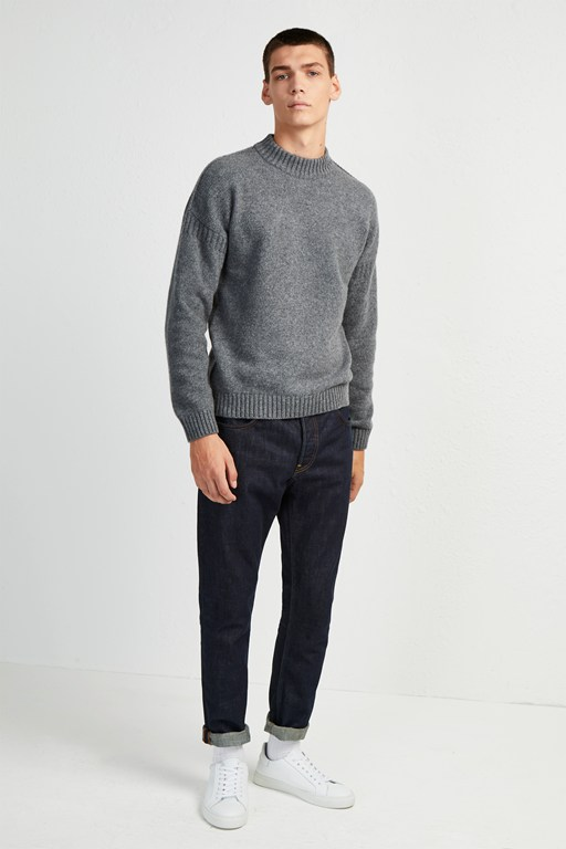 fisherman wool crew neck jumper