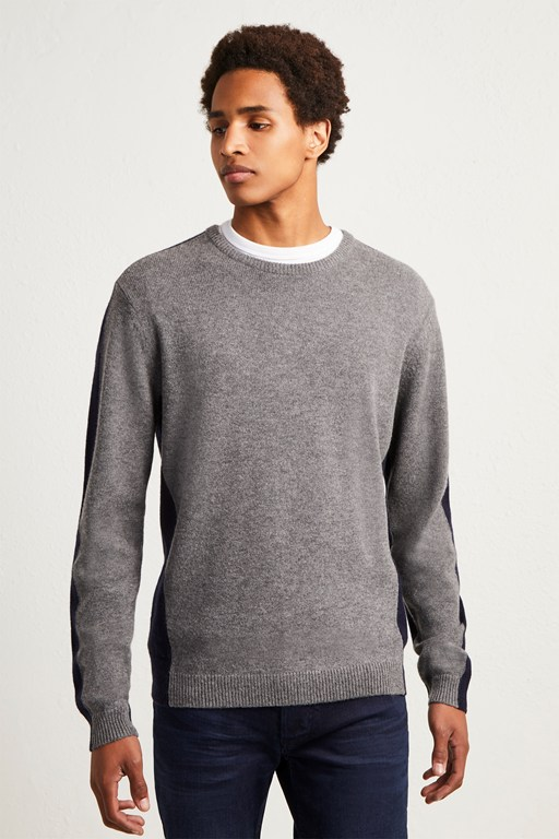fisherman wool block basic jumper