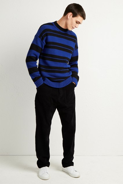 Cotton Wool Varsity Stripe Sweater