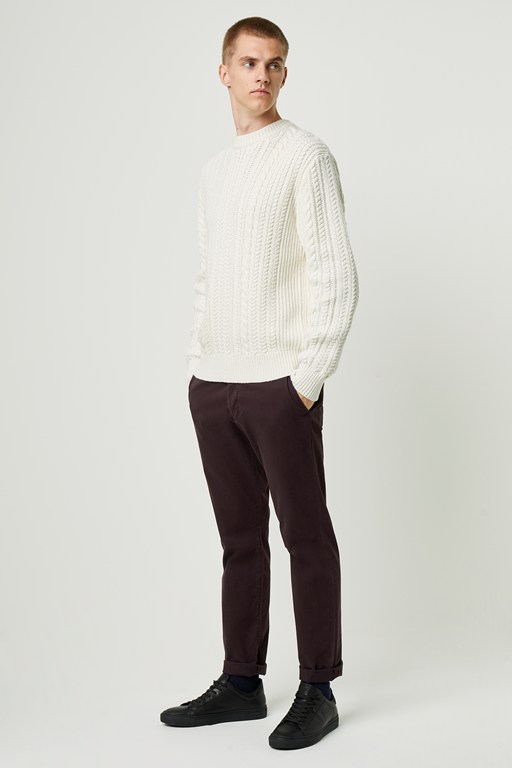 heritage cable knit sweater