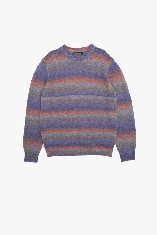 space dye striped jumper