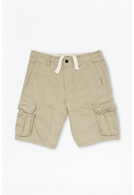 Watercolour Cotton Cargo Shorts