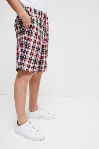 Laundered Oxford Check Shorts