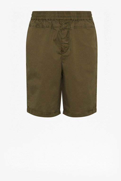 machine stretch panelled shorts