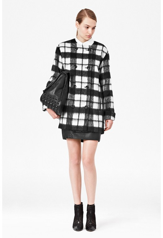 Checked Bunny Coat