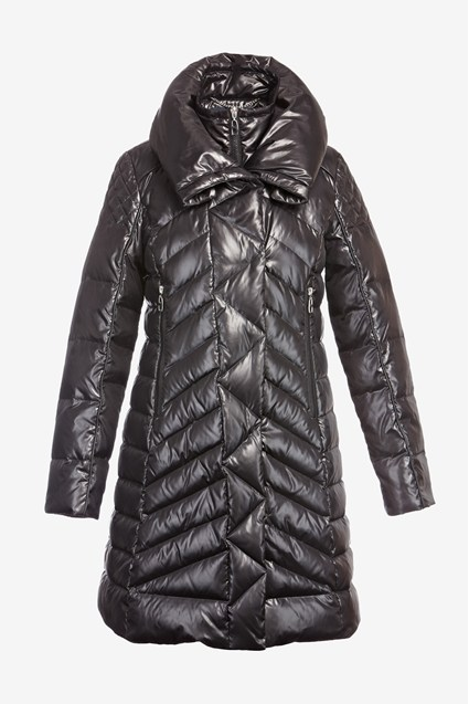 Long Double Collar Down Puff Jacket