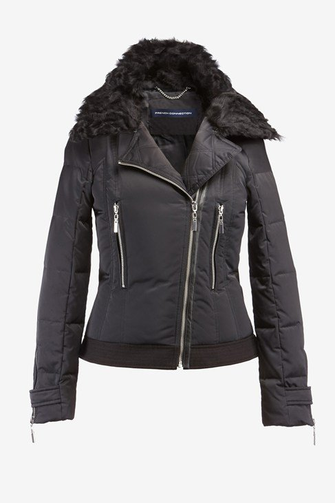 Short Moto Down Puffer Jacket