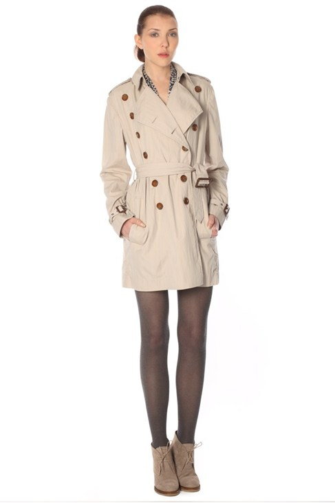 Franco Twill Trench Coat