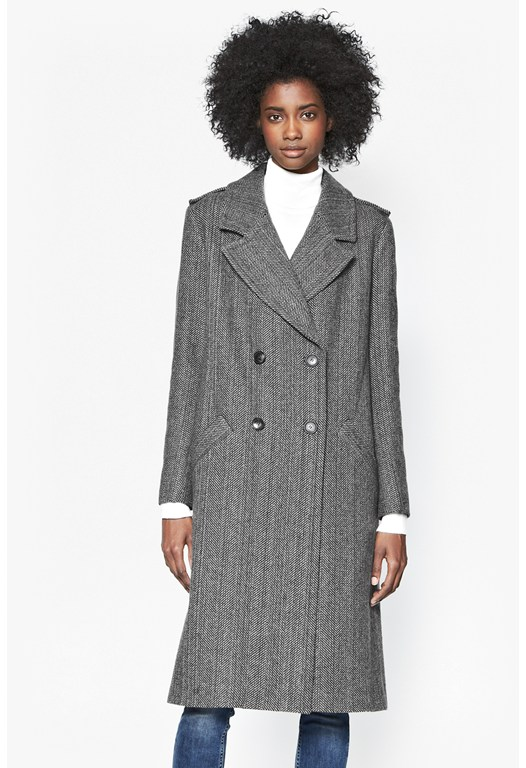Station Herringbone Coat