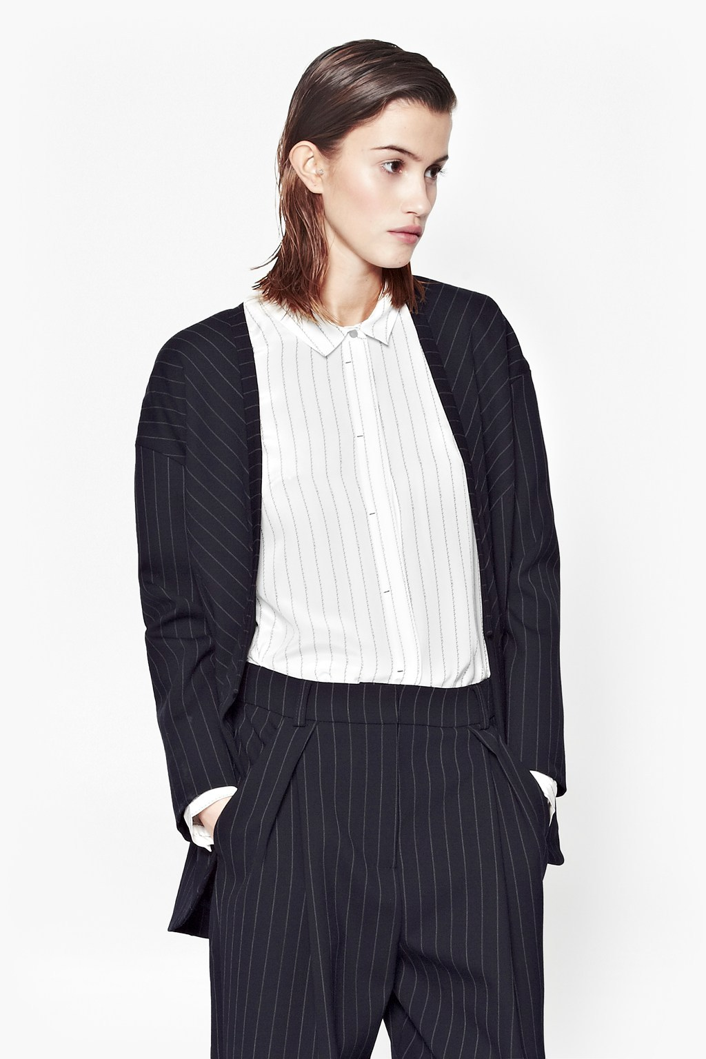 Giant Pinstriped Coat