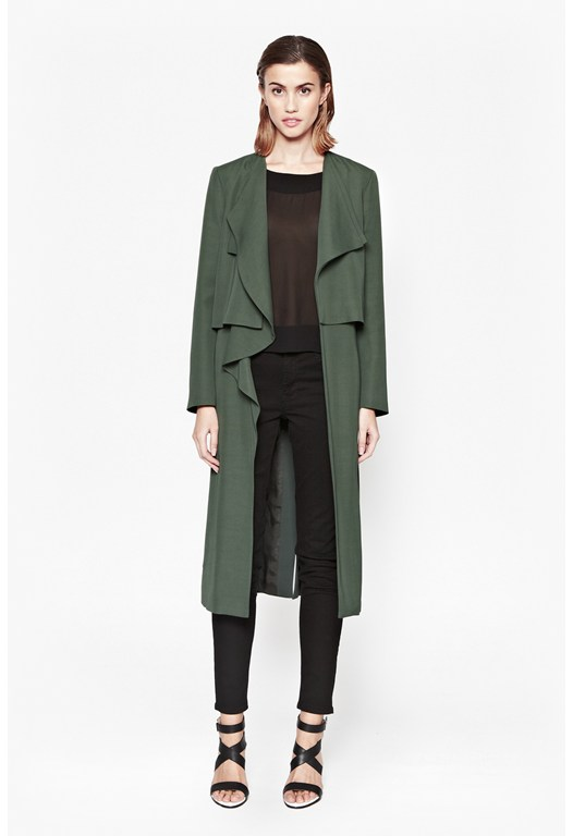Cassie Drape Double Layer Coat
