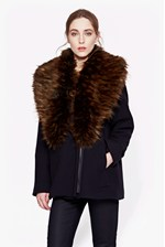 Looks Great With Mia Wool & Fur Jacket