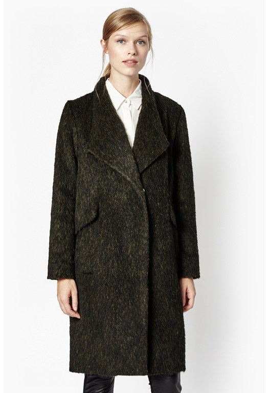 Tyler Wrap-Over Wool Coat