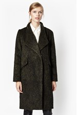 Looks Great With Tyler Wrap-Over Wool Coat