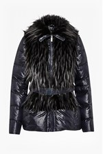 Looks Great With Zip Out Sleeve Faux Shearling Coat