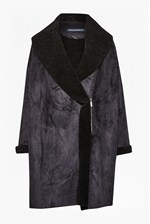 Looks Great With Cocoon Shape Faux Shearling Coat