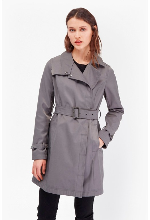Snap Closure Trench Coat