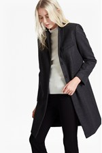 Looks Great With Platform Felt Wool Coat