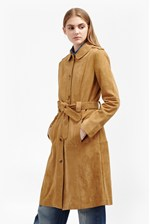 Looks Great With Tara Suede Belted Coat