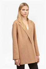 Looks Great With Platform Felt Cocoon Coat