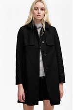 Looks Great With Platform Felt Collared Coat