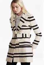 Looks Great With Escher Stripes Belted Mac