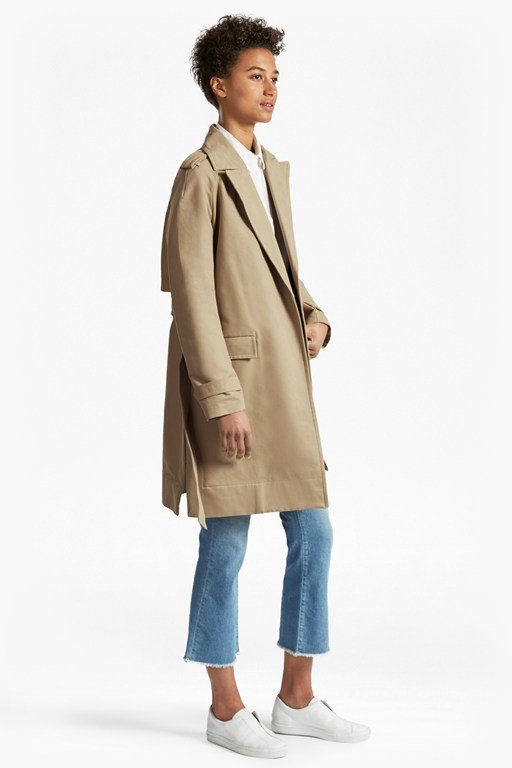 Lesley Cotton Belted Trench Coat