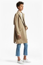 Looks Great With Lesley Cotton Belted Trench Coat