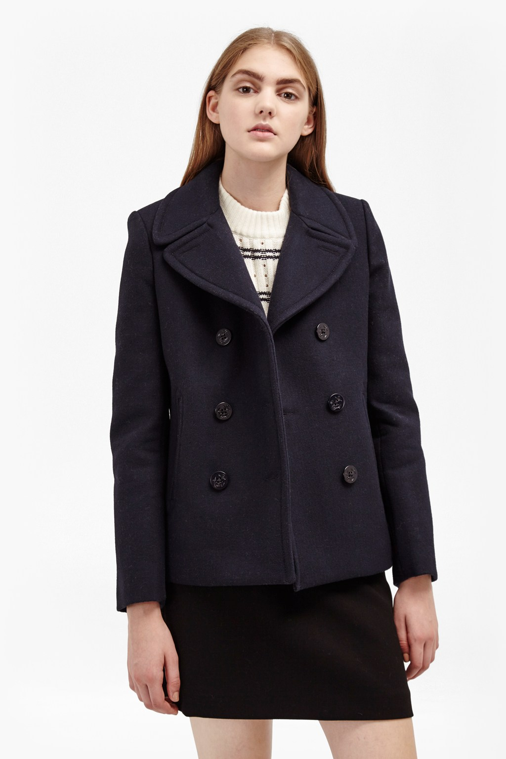 Sailor Wool Double Breast Coat | Sale | French Connection Usa