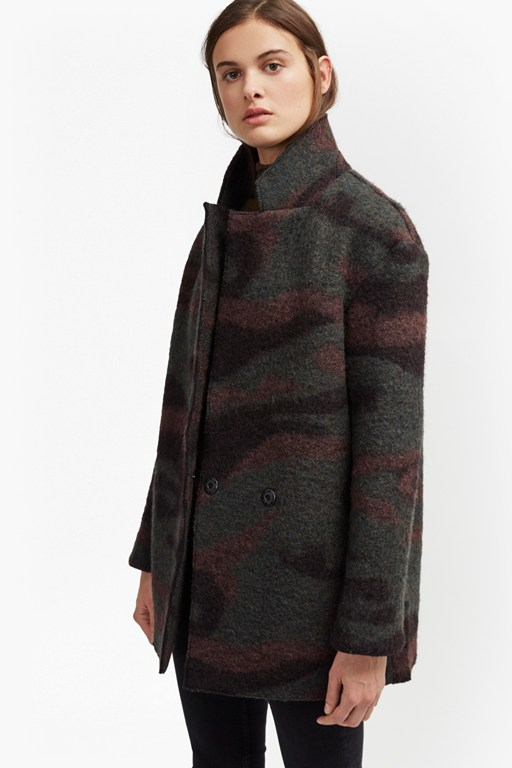 Complete the Look Camo Wool Felt Coat