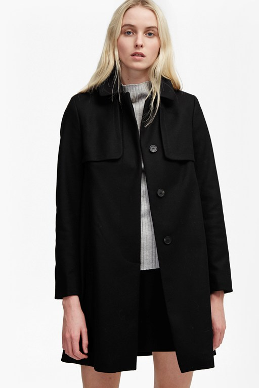 Complete the Look Platform Felt Collared Coat