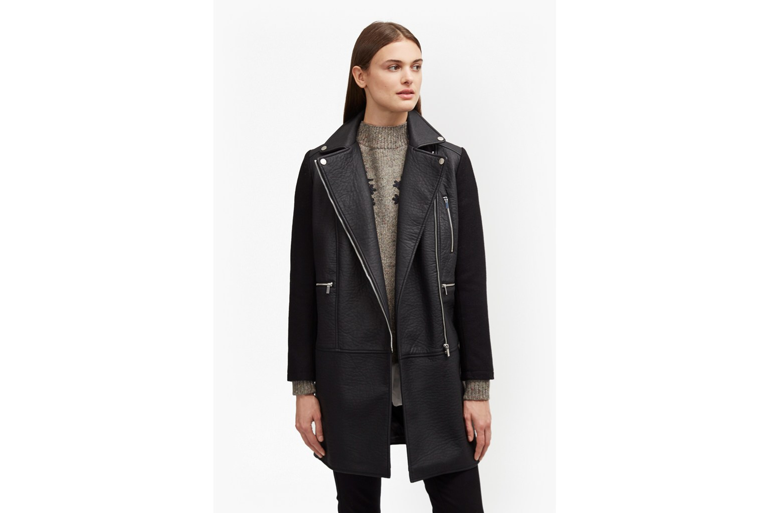 Bertie Biker Wool Coat