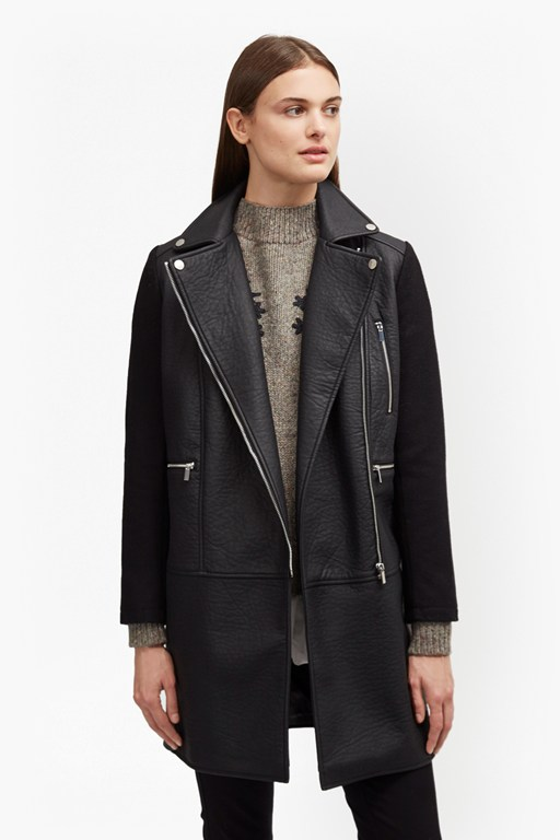 Complete the Look Bertie Biker Wool Coat