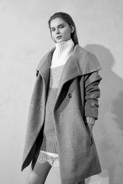 Complete the Look Bennie Wool Wide Collar Coat