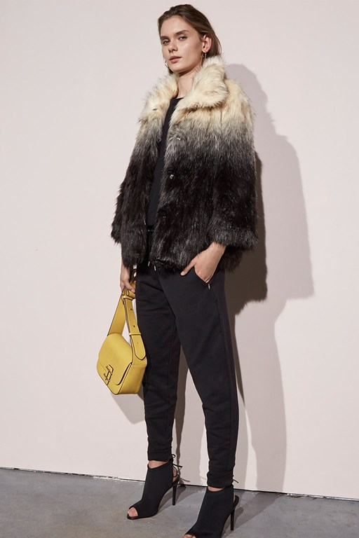 Complete the Look Johanna Faux Fur Jacket
