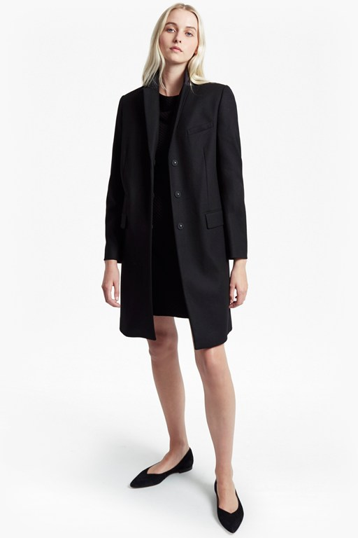 Complete the Look Platform Felt Long Sleeved Smart Fit Coat