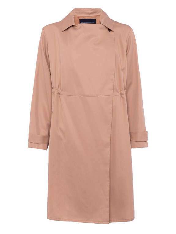 erna drape long sleeve coat