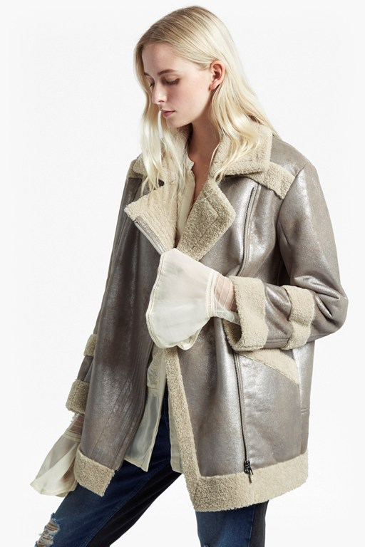 Complete the Look Zelda Shearling Coat