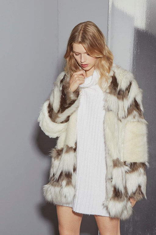 devonna mix faux fur coat