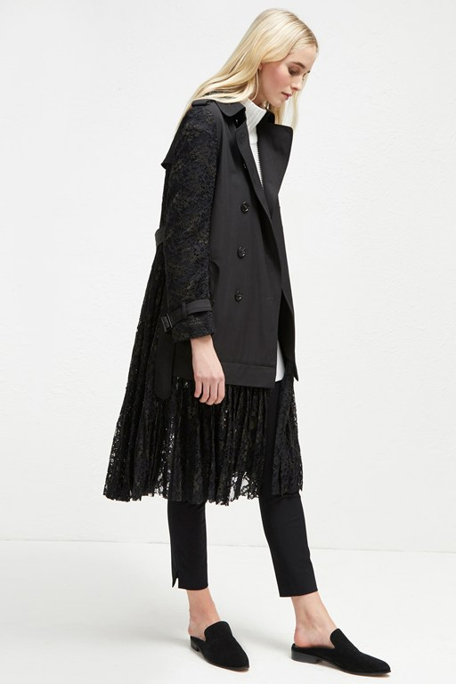 beata cotton lace trench coat