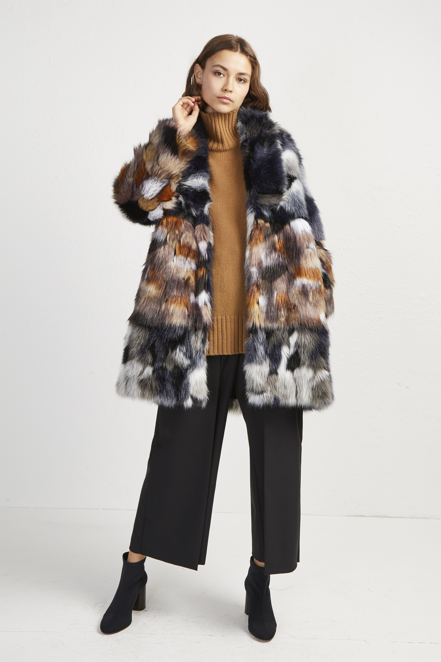 Golda Faux Fur Coat by French Connection