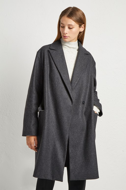 Complete the Look Platform Felt Cocoon Coat
