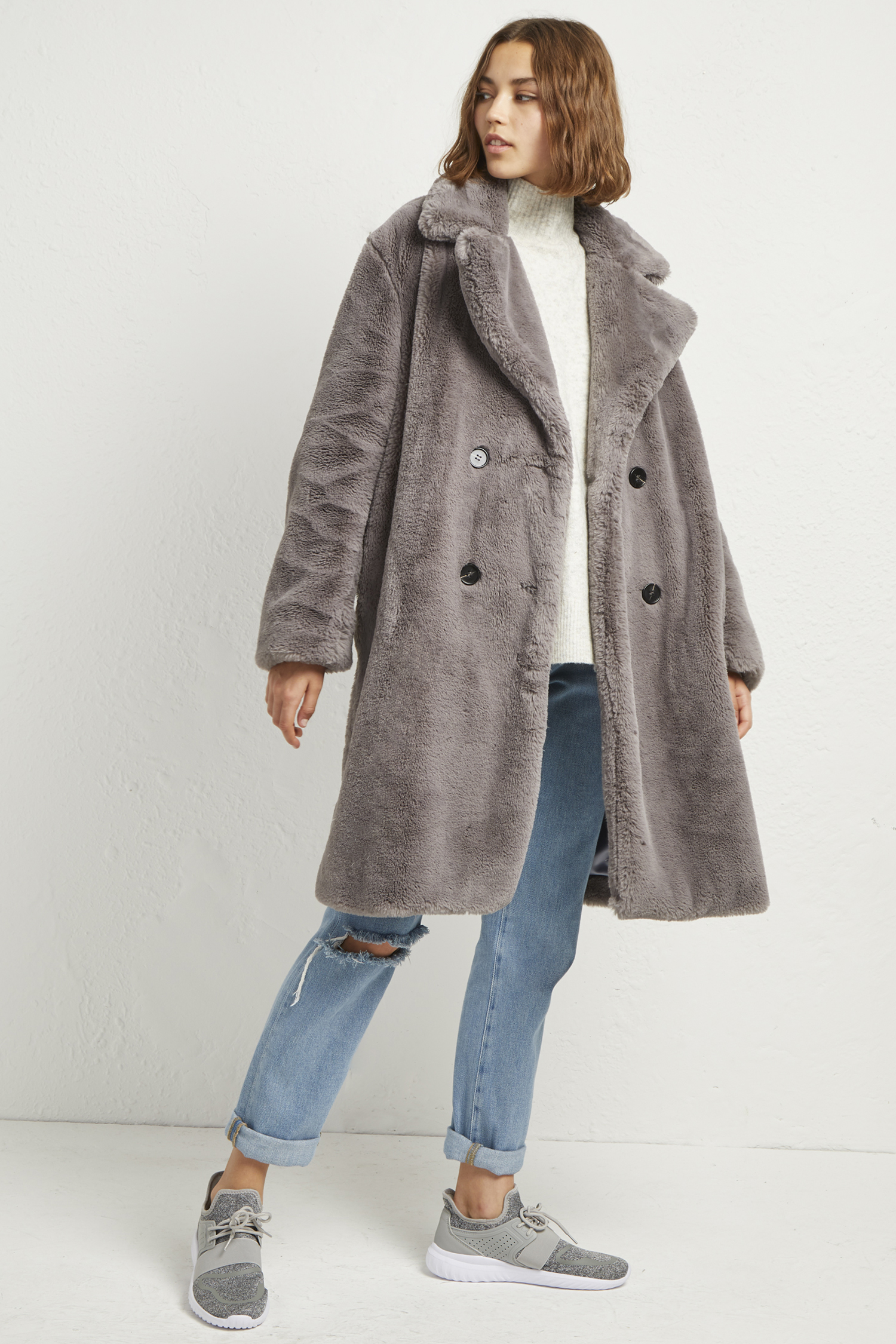 Annie Faux Shearling Coat by French Connection