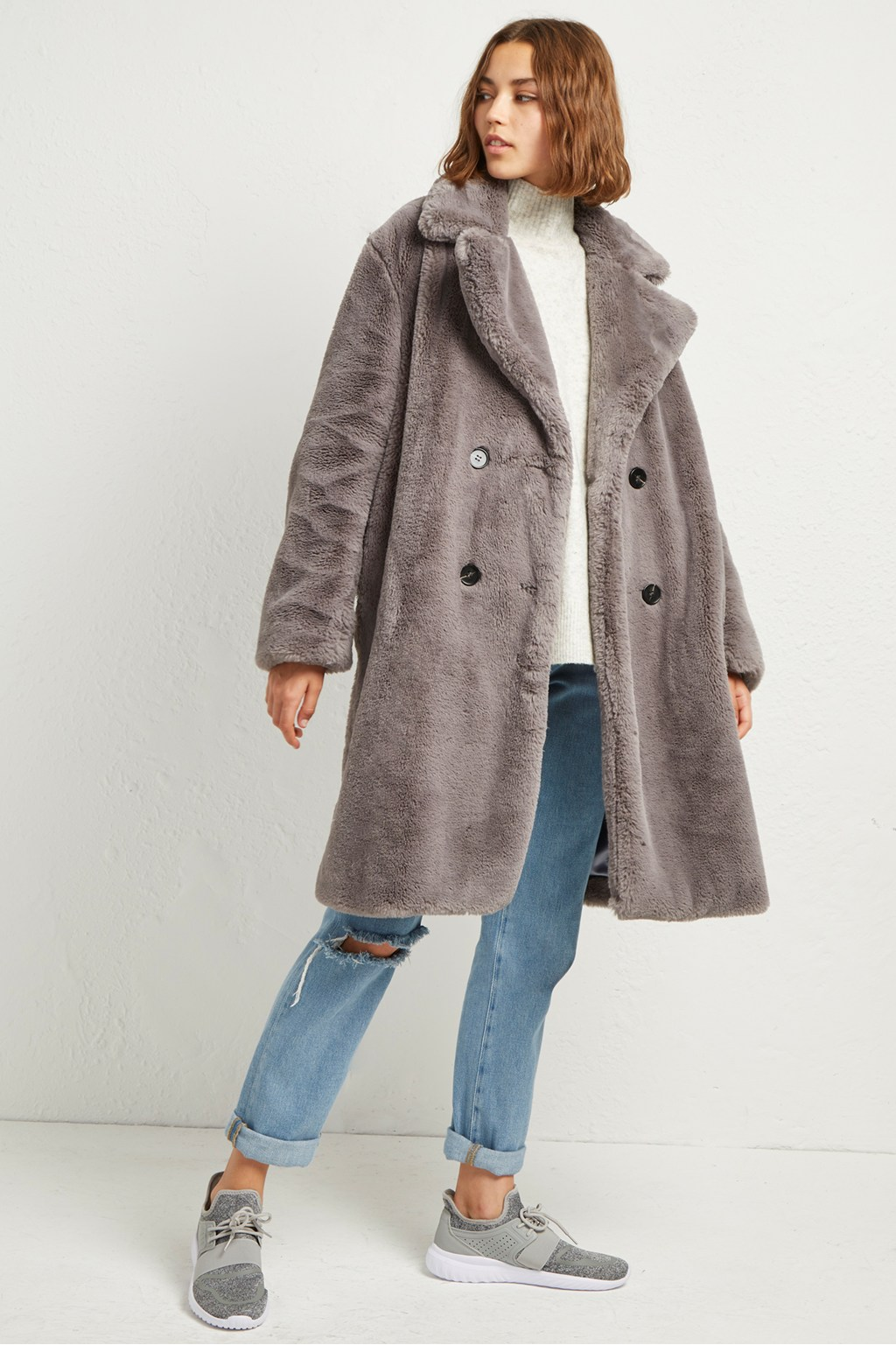 314586ff47 Annie Faux Shearling Coat | Collections | French Connection Usa