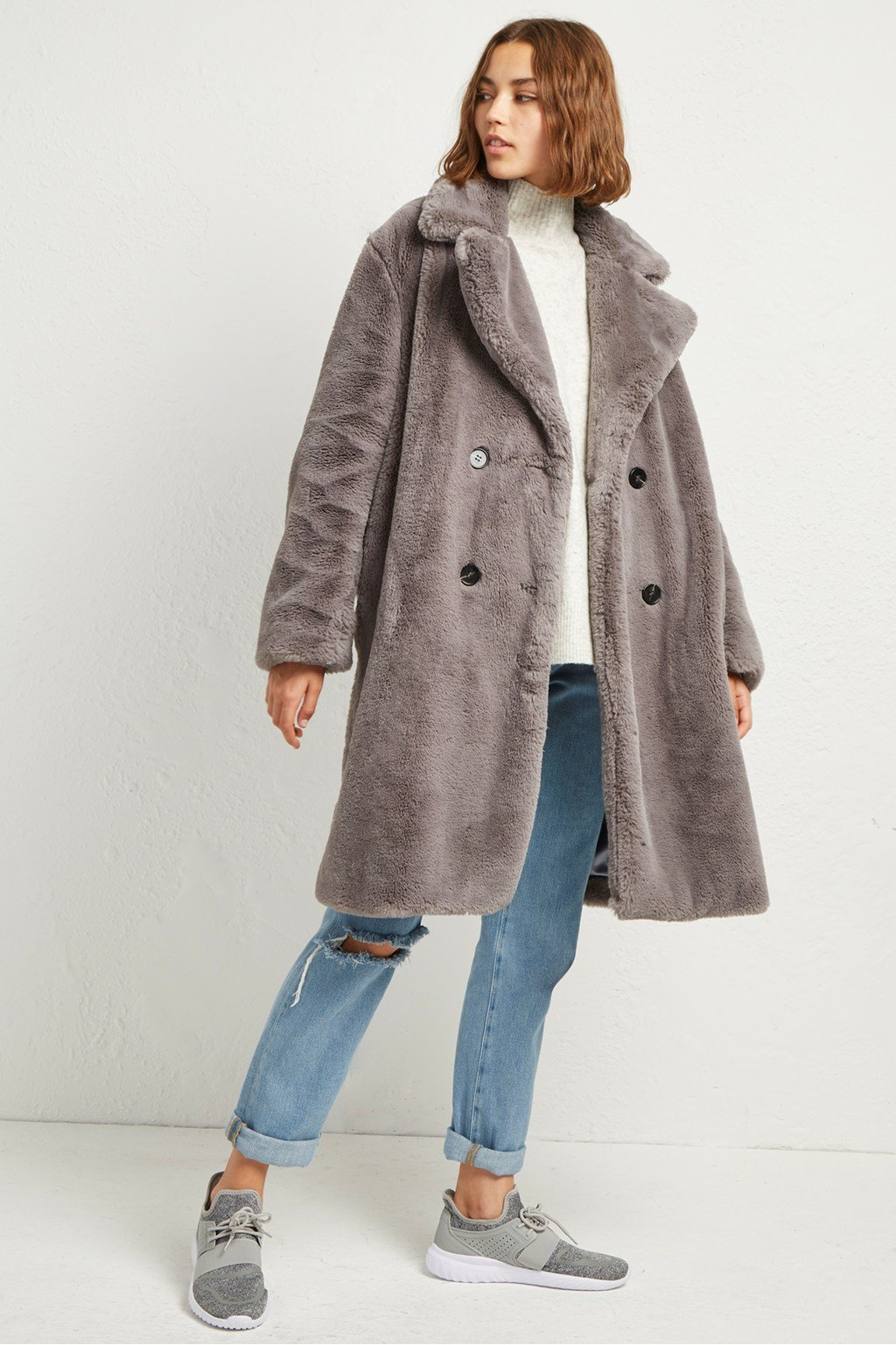 5dd644f3e Annie Faux Shearling Coat | Collections | French Connection Usa