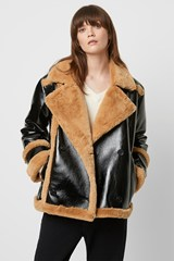 Filpa Faux Shearling Double Breasted Jacket
