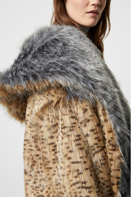 Blaire Faux Fur Hooded Coat